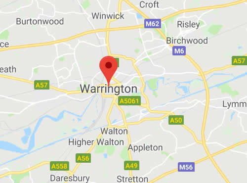 map of Warrington areas we cover